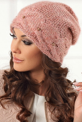 красивая вязаная шапка темида 1601 интернет магазин Elenka