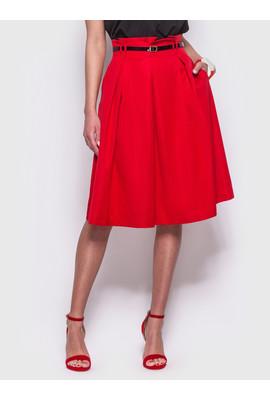 05465c3357c Стильная юбка красного цвета - 45175 1